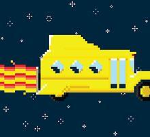 Magic Pixel Bus (Sticker) by thom2maro