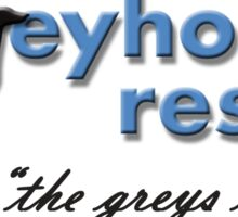 Greyhound Rescue Logo #3 Sticker