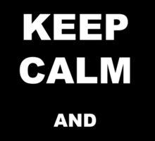 Keep calm and run like hell 01 Sticker