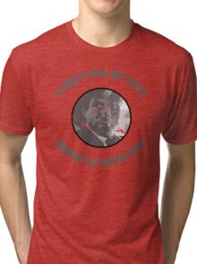 Two-Face Weeknd Parody Tri-blend T-Shirt