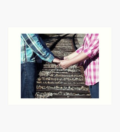 Country Love Story...On The Same Track Art Print