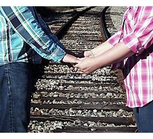 Country Love Story...On The Same Track Photographic Print