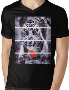 Dapper Boy TIGER Mens V-Neck T-Shirt