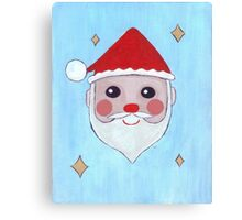 Kawaii Santa Canvas Print