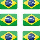 Flags of the World - Brazil x6 by CongressTart