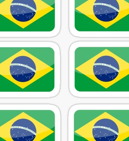 Flags of the World - Brazil x6 Sticker