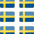 Flags of the World - Sweden x6 by CongressTart