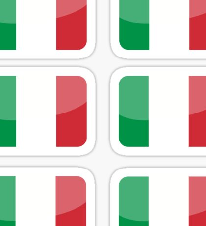 Flags of the World - Italy x6 Sticker