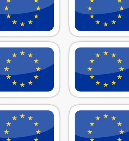 Flags of the World - European Union x6 Sticker