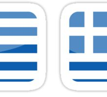 Flags of the World - Greece x6 Sticker