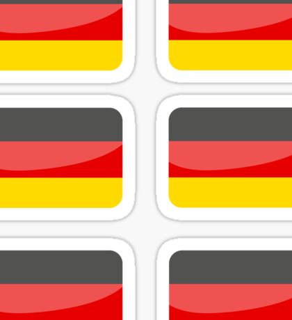 Flags of the World - German x6 Sticker