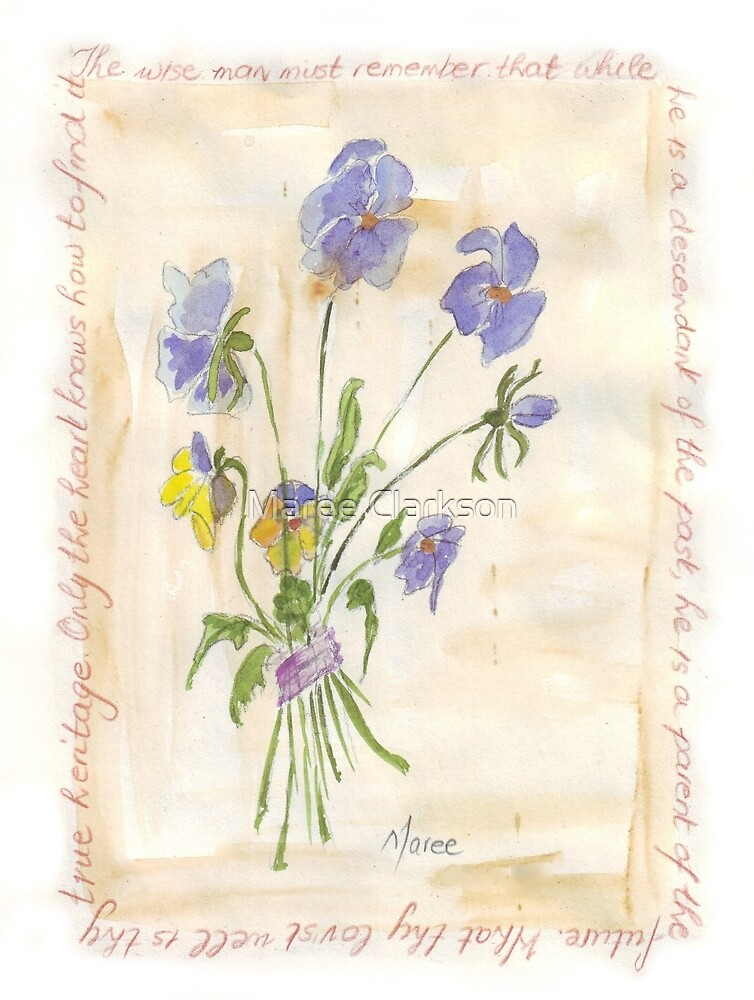 Viola oderata, oh sweet Violet! - Botanical by Maree Clarkson