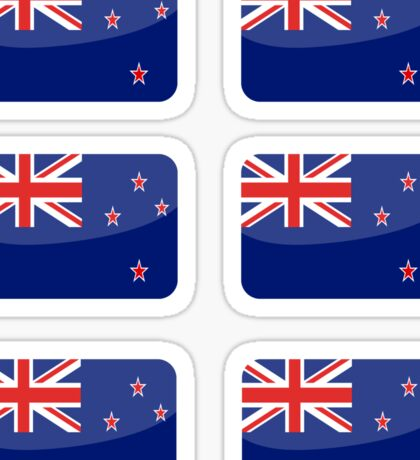 Flags of the World - New Zealand x6 Sticker
