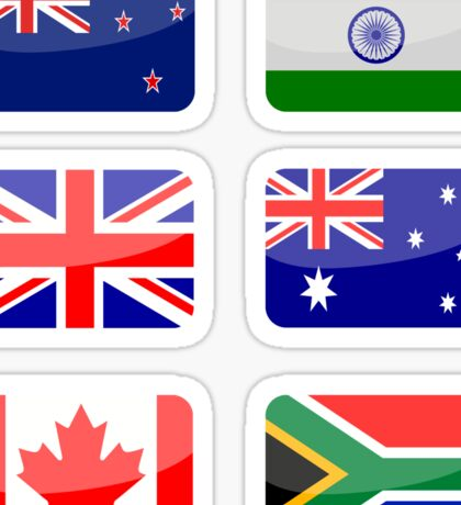 Flags of the World - Commonwealth Nations x6 Sticker