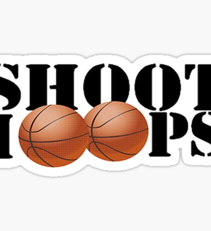 Shoot Hoops Sticker