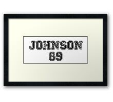 Johnson 89 - Dakota Johnson Framed Print