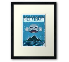Monkey Island Travel Poster Framed Print