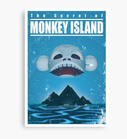 Monkey Island Travel Poster Canvas Print