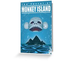 Monkey Island Travel Poster Greeting Card