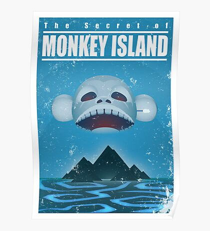 Monkey Island Travel Poster Poster