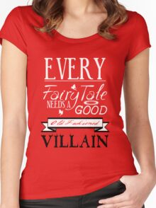 Old Fashioned Villain. Women's Fitted Scoop T-Shirt