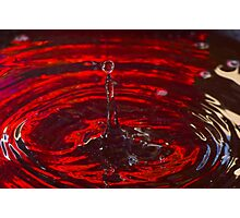 Red Water Drip Photographic Print