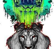Tigers And Lions In Colour by TheTubbyLife