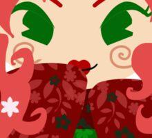 Apple Kokeshi Doll Sticker
