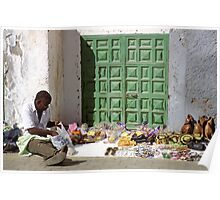 Street Vendor, Gran Canaria Poster