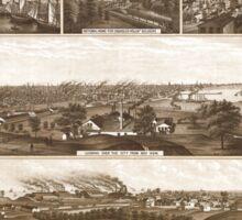 Panoramic Maps Milwaukee Wis Sticker