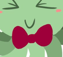 Bowtie Green Octopus Sticker