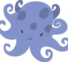 Purple Blue Octopus by SaradaBoru