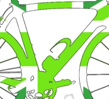 Bike Flag United Kingdom (Green - Big) Sticker