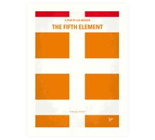 No112 My Fifth Element minimal movie poster Art Print