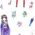 Kimono Gyaru by MoonyIsMoony