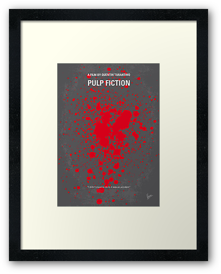 No067 My Pulp Fiction minimal movie poster by Chungkong