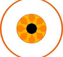 Psychedelic Orange Eye by somethingkinda