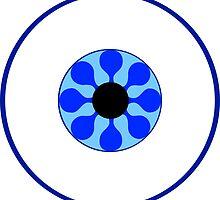 Psychedelic Blue Eye by somethingkinda