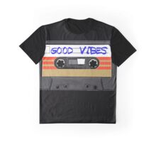 Funny music tape cassette - Good Vibes  Graphic T-Shirt