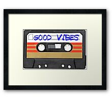 Funny music tape cassette - Good Vibes  Framed Print