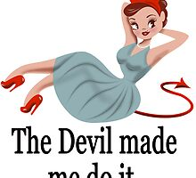 The Devil Made Me Do It-White Background/Sticker by maddiesh