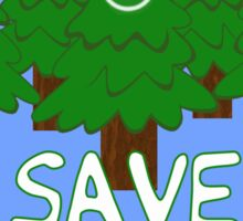 Save the Happy Little Trees Sticker
