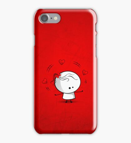 Playing with red hearts iPhone Case/Skin