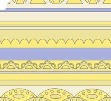 Tea pot silhouette in linear lace pattern sticker Sticker