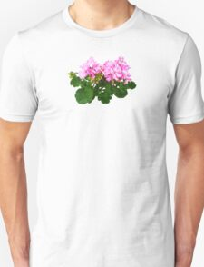 Pink and White Striped Geraniums Unisex T-Shirt