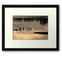Stilt silhouette Framed Print
