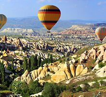 balloons over cappadocia by gruntpig