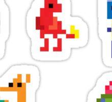 Mini Pixel Kanto Starters - Set of 9 Sticker