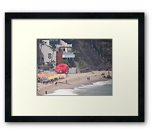 At the End of Olas Altas Beach - Aqui termina Olas Altas Framed Print