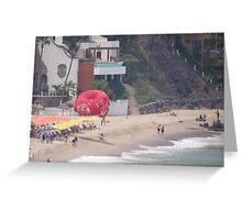 At the End of Olas Altas Beach - Aqui termina Olas Altas Greeting Card
